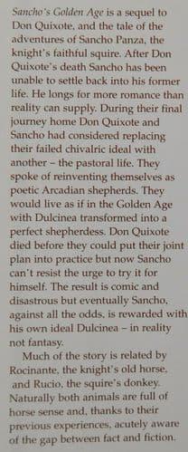 Sancho's Golden Age by Robin Chapman book historical novel sequel to Don Quixote